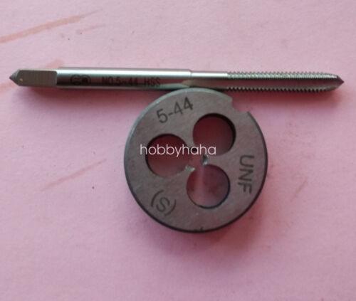 1pc HSS Machine 5-44 UNF Plug Tap and 1pc 5-44 UNF Die Threading Tool