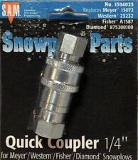 2 New 1//4 Hydraulic Quick Couplers for Meyer Fisher Western Snowplow Blade 25232