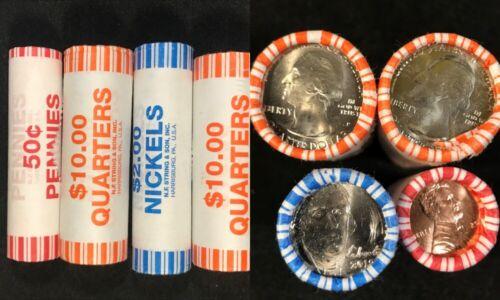 2019P rolls Lincoln Cent Jefferson Nickel Washington Quarter Lowell American Mem