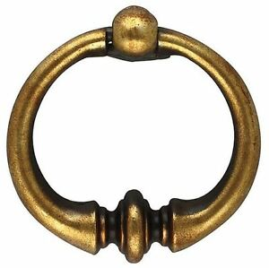 """Furniture Armoire Hardware Drawer Ring Pull Antique Bronze Large 2/"""" Rustic"""