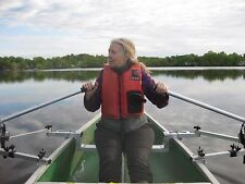 Row Outriggers for Canoe with Oars and seat  Included -- Rowing Beats Paddling!