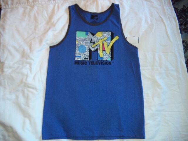 New Men's Vintage Style Size L MTV Tank Top Shirt