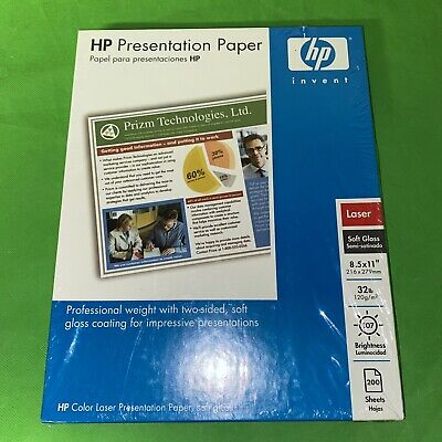 """HP Soft Gloss Presentation Laser Paper 8.5/"""" x 11/"""" Two Sided 200 Sheets Q6541A"""