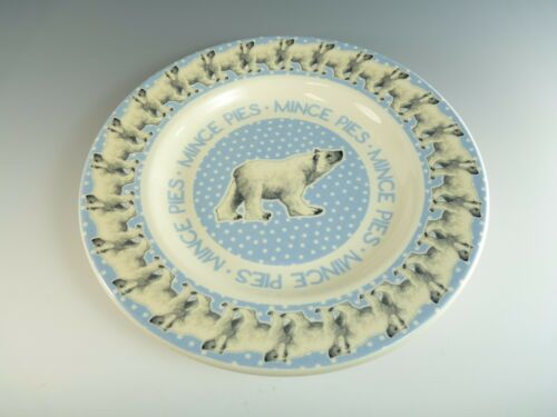 "8 3//4/"" Plate Polar Bear Pattern Unboxed BRIDGEWATER Pottery"