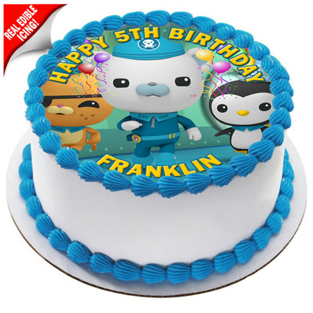 Octonauts Personalised Edible Icing Birthday Cake Decoration Image Party Topper