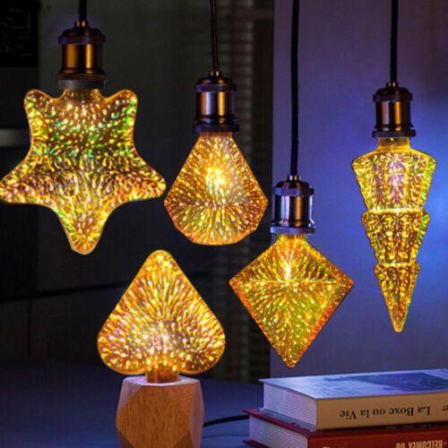 3D Decoration Bulb Led Light Bulb 85-265V ST64 G95 G80 G125 A60 Heart E27 Lights