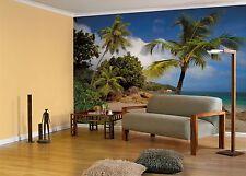 GIANT Wall Mural Photo Wallpaper PRASLIN TROPICAL BEACH Living Room Decor Art