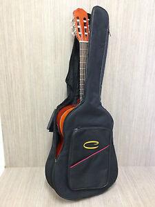 Caraya CG-39D Classical Guitar Soft Gig Bag,Black w/backpack straps & handle