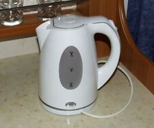 WHITE COMPACT LOW POWER 750W 1.5L CORDLESS KETTLE MOTORHOME CARAVAN  BOAT CAMPER