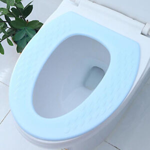 Details About Soft Warm Bathroom Toilet Seat Cover Round Elongated Padded Cushioned Bowl G