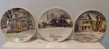Lot 3 Smuckers Of Strawberry Lane Christmas Collector's Plates 1980 1981 1982