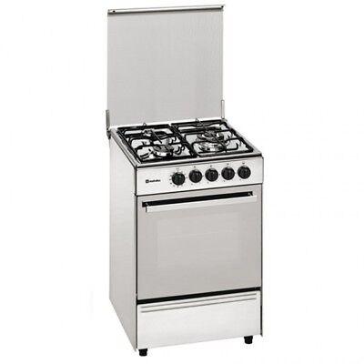 Cocina de gas 3 Quemadores a gas inoxidable y horno Meireles E531X Butano