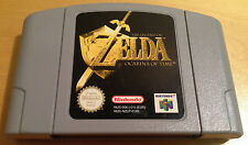 THE LEGEND OF ZELDA OCARINA OF TIME for NINTENDO 64 N64 PAL cartridge only