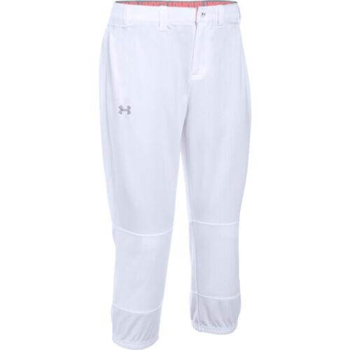 NWT Women/'s Under Armour HeatGear Strike Zone Softball Pants 1281968  LARGE /& XL