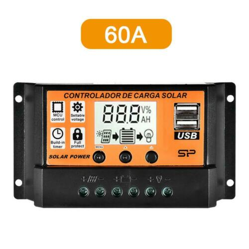 100A Solar Panel Battery Regulator Charge Controller 12//24V Auto Dual USB tyd US