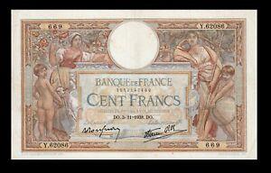 France-100-francs-3-11-1938-Pick-86b-XF-039-039-Luc-Olivier-Merson-039-039