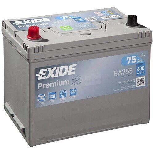 Exide Premium Carbon Boost 75Ah 630A Autobatterie EA755 *sofort einsatzbereit*
