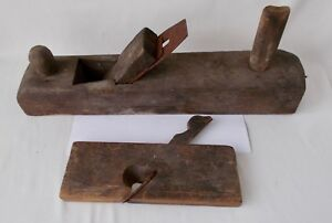 2 Very Old Woodworking Planes Handmade Ebay