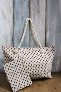 Bag-of-Playa-Large-with-Strawberry-Fruit-Canvas-Fabric-Beige-Red-Sane-Summer