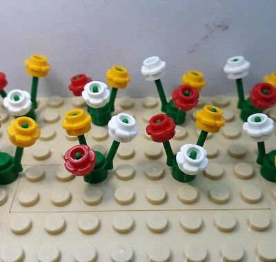 New Lego 50 × Mixed Flowers Light Blue And Pink /& 8 Stems Friends,City,Minecraft