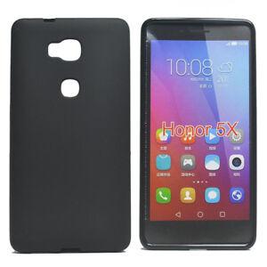 For-Huawei-Honor-5X-GR5-Black-Matte-TPU-Gel-Skin-Case-back-cover