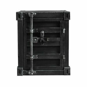 INDUSTRIAL-VINTAGE-BEDSIDE-SIDE-TABLE-CABINET-METAL-STORAGE-TOOLS-BOX-CONTAINER