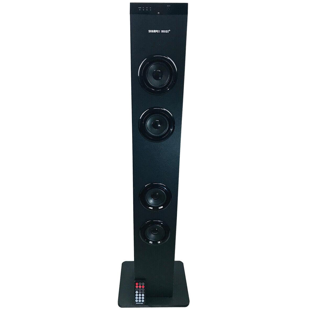 Sharper Image Bluetooth Tower Speaker SBT9 Black (Refurbished)