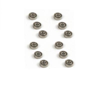 4x Kugellager mit Bund MF52 ZZ 2x5x2.5 mm