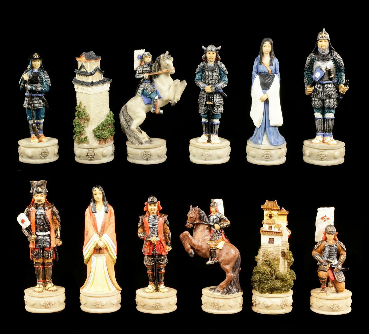 Piezas de Ajedrez - Set de Samurai Guerrero - Ajedrez Figuras Veronese
