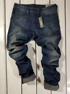 Raccomandato-Prezzo-al-dettaglio-202-Nuovo-Jeans-Diesel-Uomo-Buster-0849B-Regular-Slim-Tapered-Blu