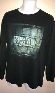 VINTAGE-KORN-2004-TOUR-LONGSLEEVE-BLACK-T-SHIRT-LARGE-METAL-VTG-OUT-OF-PRINT