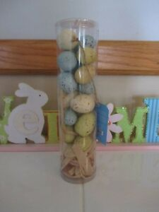 Details About New Pier 1 Easter Decor Table Scatter Speckled Bird Eggs 18 Pieces Blue