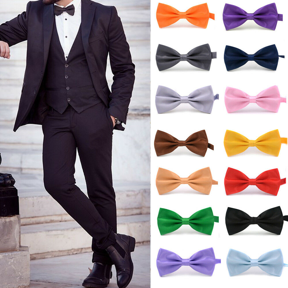 USA SELLER NEW Fashion BOW TIE Mens Adjustable Tuxedo Wedding Bow Tie Necktie