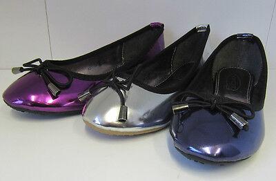 Las niñas en el clavo Metálico Dolly Zapatos navy/purple/silver h2277