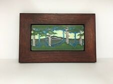 Motawi Pine Landscape Art Tile Family Woodworks Oak Park Arts & Crafts Frame