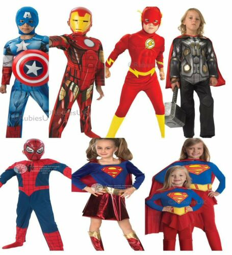 Kids Boys Girls Super Hero Comic Book Week Film TV Fancy Dress Costumes Dress Up