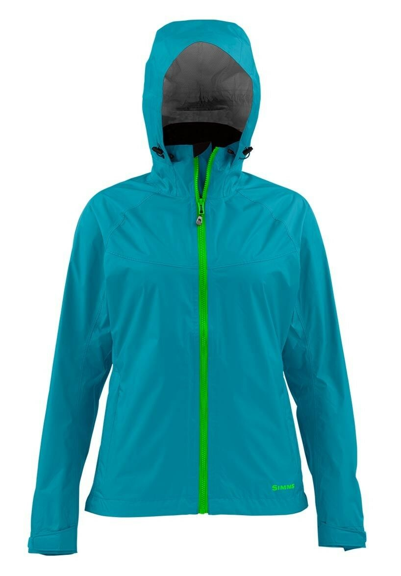 Simms Women's  Hyalite Rain Shell Lagoon - Size Small  -CLOSEOUT  save up to 30-50% off