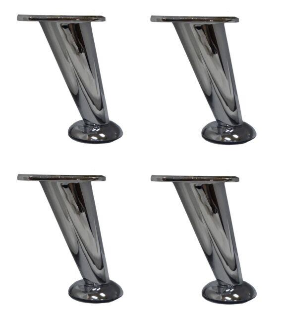Awesome Furniture Legs 5 Slanted Metal Chrome Set Of 4 Ibusinesslaw Wood Chair Design Ideas Ibusinesslaworg
