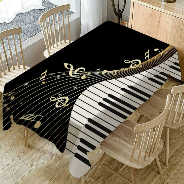 Piano Music Pattern Table Cloth