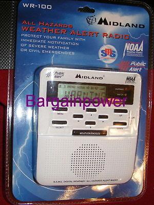 Midland Weather Radio Storm Warning Alert Noaa Alarm Tornado Hurricane Home  46014741003   eBay