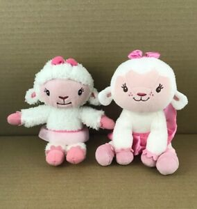 Disney-Doc-McStuffins-Lambie-PLUSH-Lot-Of-2-Stuffed-Toy-7-Height