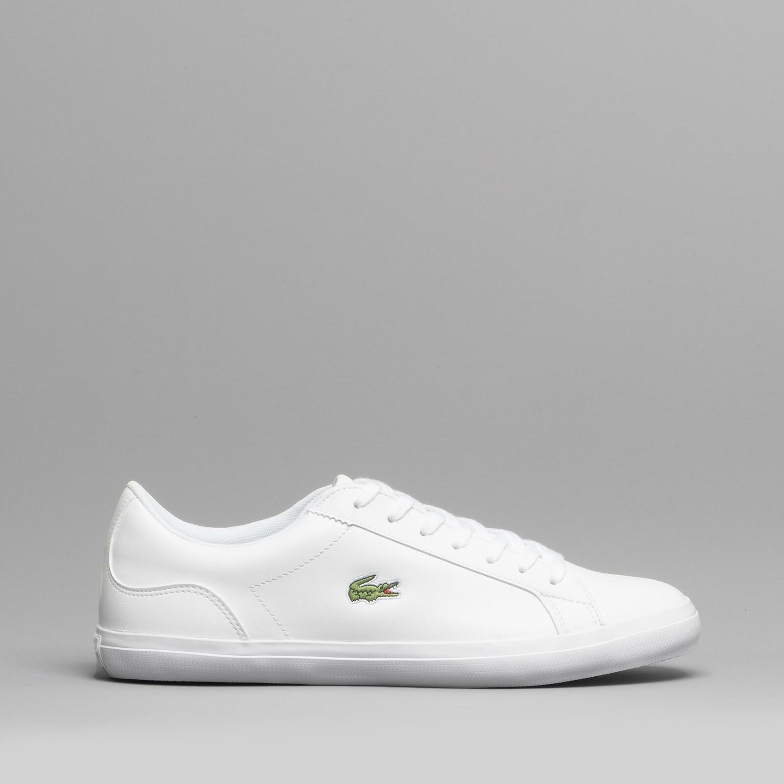 Lacoste LEROND BL 1 Mens Leather Casual Lace Up Trainers White