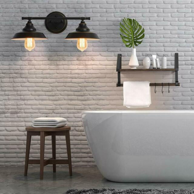 Lnc 1 Light Glass Wall Sconces Industrial Bathroom Vanity Silver For Sale Online Ebay