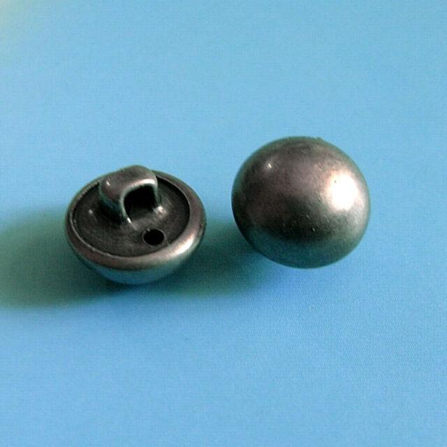 Blazer Suit Button J693 11pc Crown Shield Black Enamel Metal Bespoke 17.8//20.5mm