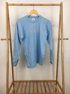 VTG-80s-Cal-Cru-Men-039-s-Blank-50-50-Thin-Long-Sleeve-Light-Blue-T-Shirt-Size-S-USA