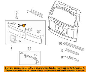 HONDA OEM Liftgate Tailgate Hatch-License Molding Clip 91513SJK003