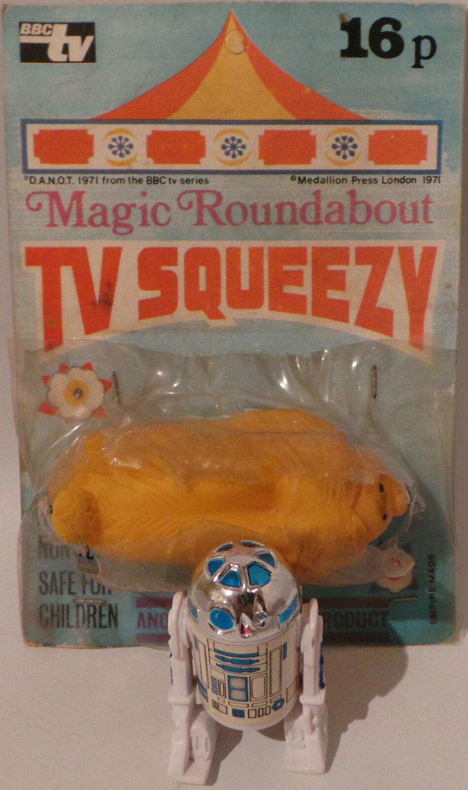 Noël est plein de de de joie Le Magic Roundabout: vintage Douglas TV Squeezy cardées figure. (mlfp) 7beae5