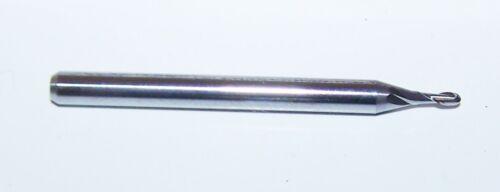 """1.295mm CARBIDE 2 FLUTE ENDMILLS .0510/"""" Kyocera 1625-0510.153 SALE BALL END"""