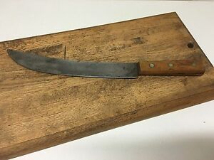 vintage lamson goodnow carbon steel chefs knife 8145 made in usa ebay. Black Bedroom Furniture Sets. Home Design Ideas