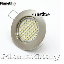 Faretto lampada led gu10 3w foro incasso 60mm resa 40w 48 led smd5050 luce calda